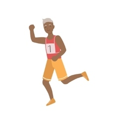 Old Man Running A Marathon vector