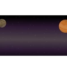 outer space landscape vector image