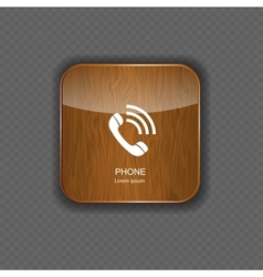Phone wood application icons vector image