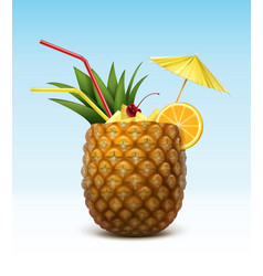 Pineapple cocktail vector