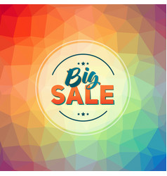 sale banner template design vector image