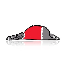 Santa bear sleeping sketch for your design vector image