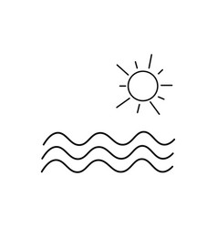 sea and sun icon vector image