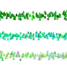 seamless green pine tree pattern paragraph vector image