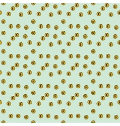 Seamless pattern coin money vector