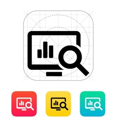 Search chart icon vector image