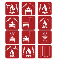 Set of kebab icons vector image