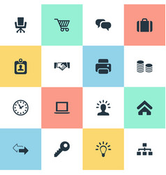Set of simple b2b icons vector