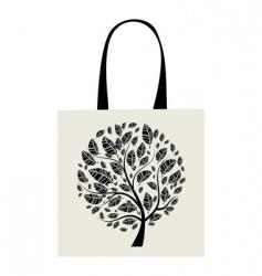 shopping bag design art tree vector image