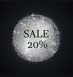 Silver-sale-twenty vector