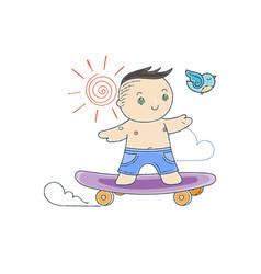 Skating boy vector