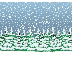 Snowy winter forest Christmas landscape vector