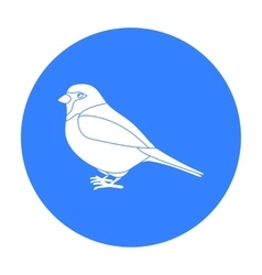 Sparrow icon in black style isolated on white vector