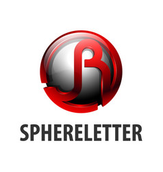 sphere circle initial letter jr logo concept vector image