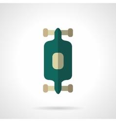 Street longboarding flat color icon vector image
