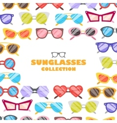 Sunglasses icons background vector image