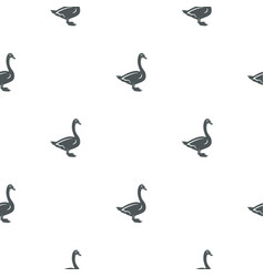 Swan pattern seamless background vector