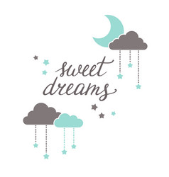 Sweet dreams lettering vector