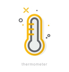Thin line icons Thermometer vector