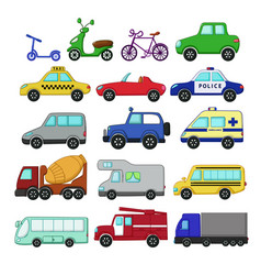 Urban transport set vector