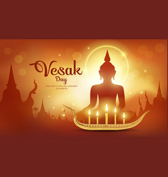 Vesak day it is an important day buddhism vector