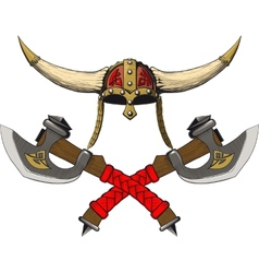 Viking emblem vector
