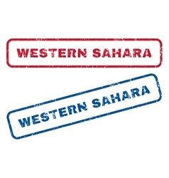Western Sahara Rubber Stamps vector