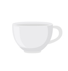 white tea cup in flat style vector image