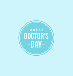 World doctor day art vector