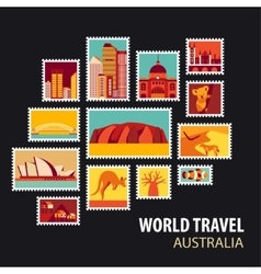 World Travel Icons set vector image