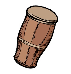 Indian drum vector image vector image