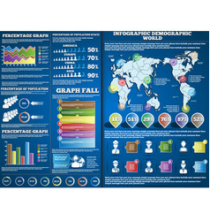 INFOGRAPHIC DEMOGRAPIC BLUE 2 vector image vector image