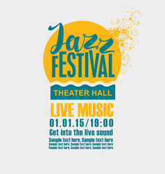Poster for the jazz festival with a sun and sea vector