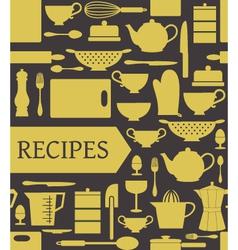 Recipes card vector