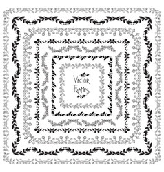 Set of decorative elements Square frames vector image vector image