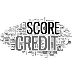 what does your credit score mean text word cloud vector image vector image