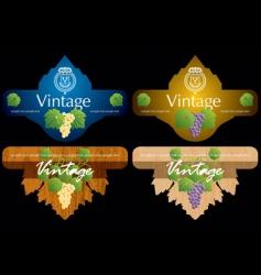 wine labels10 vector image