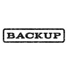 backup watermark stamp vector image vector image
