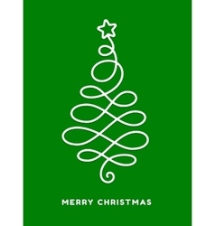 Christmas tree made from loops abstract design vector image