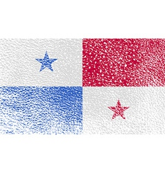 Flag of Panama with old texture vector image