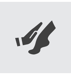 Foot massage icon vector image