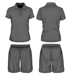 Mens polo-shirt and sport shorts vector