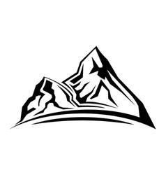Simple mountain silhouette vector