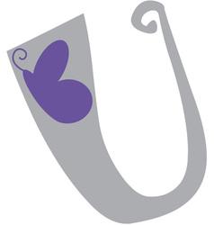 Valentine Font U vector image vector image