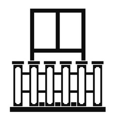 Window with columns icon simple style vector