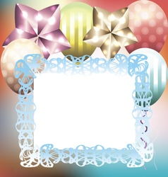 Bright multicolored card template for birthday vector image vector image