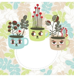 Creative banner with vases vector image