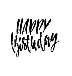Happy birthday lettering for invitation and vector