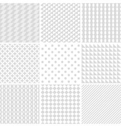 monochrome geometric patterns vector image