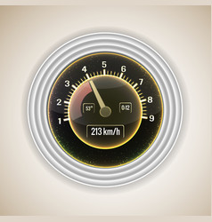 Realistic speedometer interface background vector